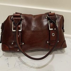 Wilson's leather dark brown handbag